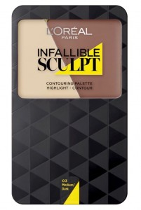 LOREAL INFALLIBLE SCULPT CONTOURING PALETA DO KONTUROWANIA 03 MEDIUM/DARK 10G