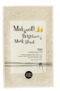 HOLIKA HOLIKA MAKGEOLLI BRIGHTENING MASK SHEET.