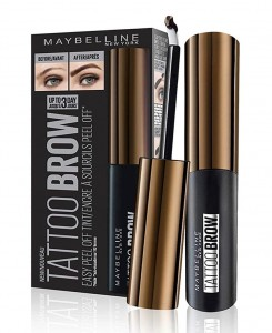 MAYBELLINE TATTOO BROW ŻEL DO BRWI PEEL OFF DARK BROWN