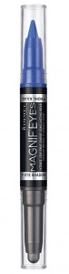 RIMMEL MAGNIFEYES DOUBLE CIEŃ I EYELINER 2W1 004 DARK SIDE OF BLUE