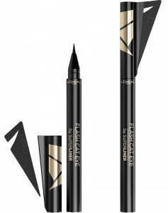 LOREAL FLASH CAT EYE SUPER LINER W PISAKU  01 BLACK