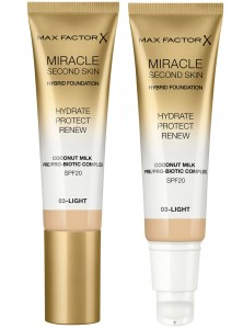 MAX FACTOR MIRACLE SECOND SKIN HYBRID PODKŁAD 03 LIGHT 30ML