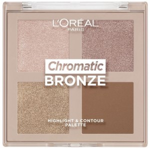 LOREAL CHROMATIC BRONZE HIGHLIGHTER & CONTOUR PALETA DO KONTUROWANIA I ROZSWIETLANIA 10G