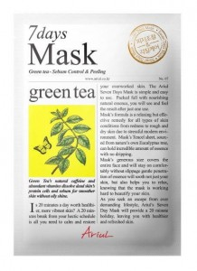 ARIUL 7 DAYS MASKA W PŁACIE GREEN TEA