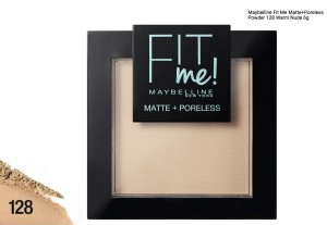 MAYBELLINE FIT ME MATT+PORELESS PUDER 128 WARM NUDE 9G