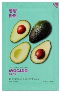 HOLIKA HOLIKA PURE ESSENCE MASK SHEET-AVOCADO.